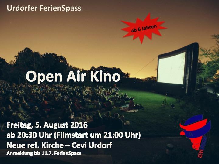 Flyer Openair Kino 2016